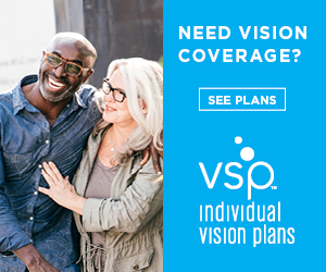 Vision coverage for your contact and glasses!